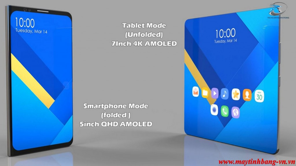 Samsung Galaxy X che do tablet