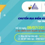 Thông báo chuyển địa điểm kinh doanh và số đt liên lạc tại Tân Á Long Hà nội